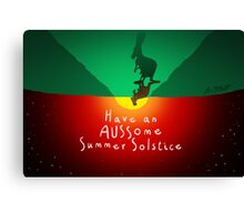 AUSSIE Summer Solstice! Canvas Print