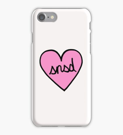 SNSD Heart Patch kpop iPhone Case/Skin
