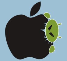 Android Bite Apple Funny T-Shirt / Samsung Galaxy Case /  Tote Bag / Pillow  Kids Clothes