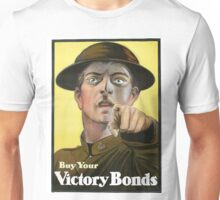 """War Bonds"" Military WWI Poster  Unisex T-Shirt"