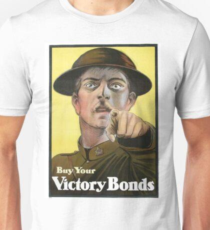 """War Bonds"" Military WWI Poster  Unisex T-Shirt"