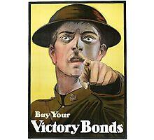 """War Bonds"" Military WWI Poster  Photographic Print"