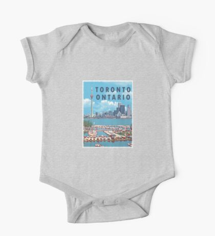 Toronto Ontario Canada Vintage Travel Decal One Piece - Short Sleeve