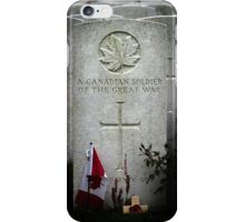 A Canadian Soldier, Known Unto God iPhone Case/Skin
