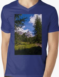 Alpine Scene Mens V-Neck T-Shirt