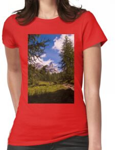 Alpine Scene Womens Fitted T-Shirt