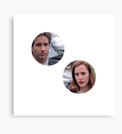 pilot mulder and scully!!! Canvas Print