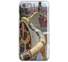 Reaching out to Barcelona in Park Guell  iPhone Case/Skin