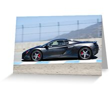 Mclaren 650S at Laguna Seca Greeting Card