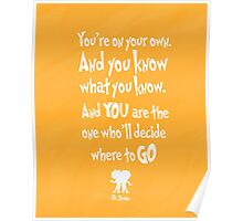 dr seuss you're on your way Poster