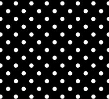 Polkadots Black and White by Medusa81