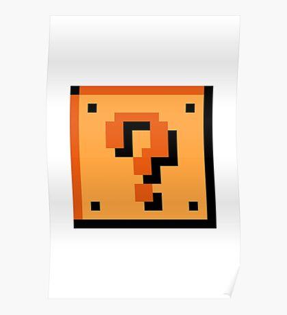 Question Block 8-Bit Poster