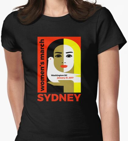 Women's March on Washington 2017, Sydney Australia Womens Fitted T-Shirt