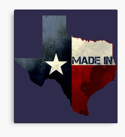 Made in Texas Canvas Print