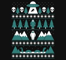 Paranormal Christmas Sweater Kids Tee