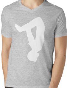 THE LOGO - WHITE/BLACK Mens V-Neck T-Shirt