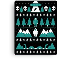 Paranormal Christmas Sweater Canvas Print