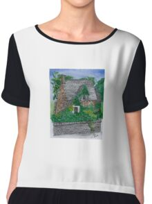 Cottswold Cottage, an English cottage in the USA Chiffon Top