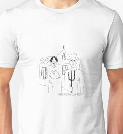 American Gothic- Grant Wood Unisex T-Shirt