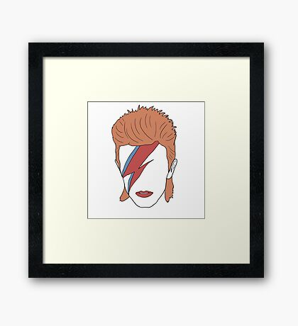 David Bowie Minimal Framed Print