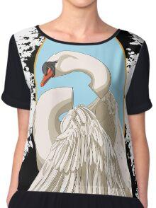 Unfinished Swan Chiffon Top