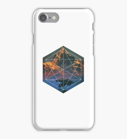Geometric Forest and Mountains iPhone Case/Skin