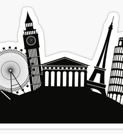 Monument Silhouettes Sticker