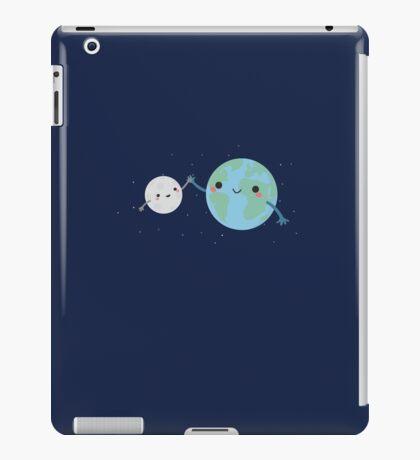 Cool Earth and Moon  iPad Case/Skin