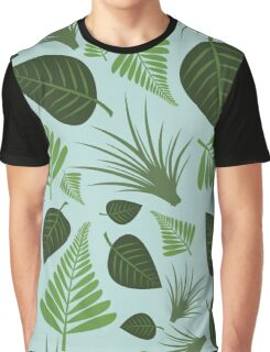 Leaf Repeating Pattern Graphic T-Shirt
