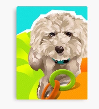 CHARLIE - Apricot Poodle Canvas Print