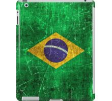 Vintage Aged and Scratched Brazilian Flag iPad Case/Skin