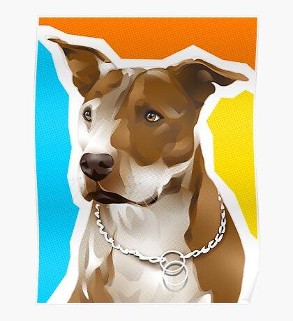 RENEE - American Pit Bull Terrier Poster
