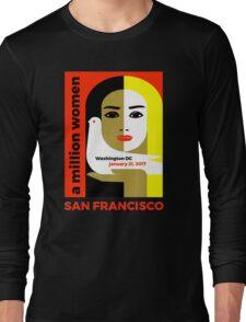 Women's March on San Francisco California January 21, 2017 Long Sleeve T-Shirt