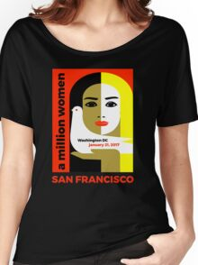 Women's March on San Francisco California January 21, 2017 Women's Relaxed Fit T-Shirt