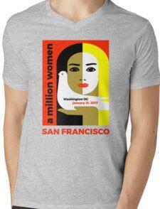 Women's March on San Francisco California January 21, 2017 Mens V-Neck T-Shirt