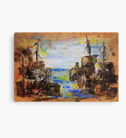 Rough Country Abstract Canvas Print