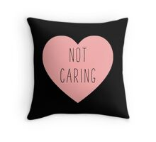 I Love Not Caring Heart | Antisocial | Hearts Throw Pillow