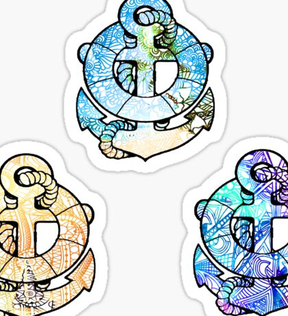 Tie Dye Cute Anchor Pack Sticker