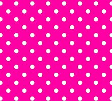 Polkadots Pink and White by Medusa81