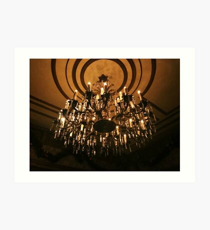 Haunted Mansion Chandelier Art Print