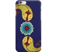 Curious Fish with Water Lily iPhone Case/Skin