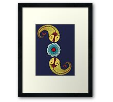 Curious Fish with Water Lily Framed Print