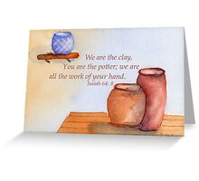 The Creative Potter- Isaiah 64:8 Greeting Card