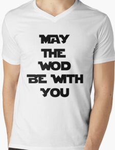 May The WOD Be With You - Black Mens V-Neck T-Shirt