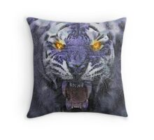 Psychedelic Tiger Poster Throw Pillow