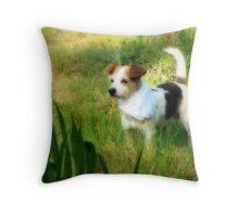 My Sweet Little Decker Dog Throw Pillow