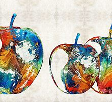 Colorful Apples by Sharon Cummings by Sharon Cummings