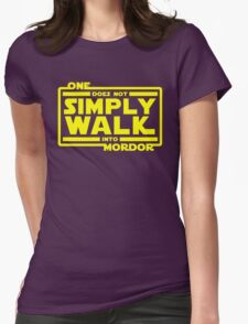 One Does Not Simply Walk Womens Fitted T-Shirt