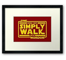 One Does Not Simply Walk Framed Print