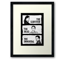 Torchwood - The Survivor, The Dead, The Immortal Framed Print